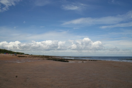 Big skies and plenty of soft sand at Cambo Sands, Kingsbarns