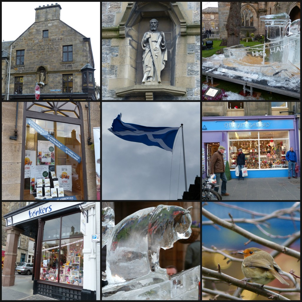 St andrews day in St Andrews - collage