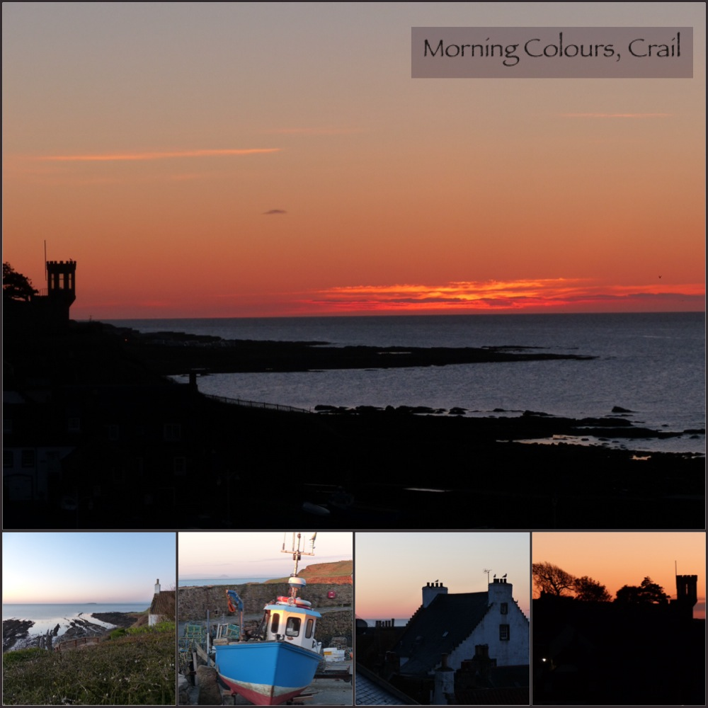morning colours as the sun rises in the East Neuk