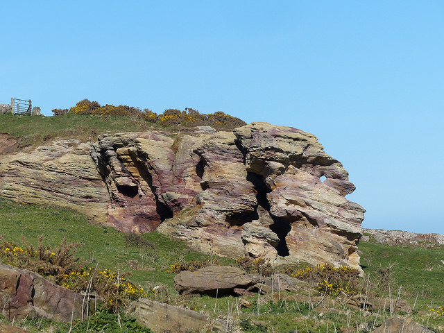 Caiplie Caves, between Cellardyke and Crail