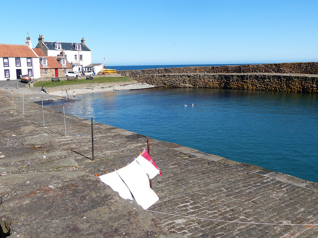 A good day for washing at Cellardyke