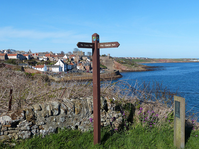 Arriving at Crail on the Fife Coastal Path