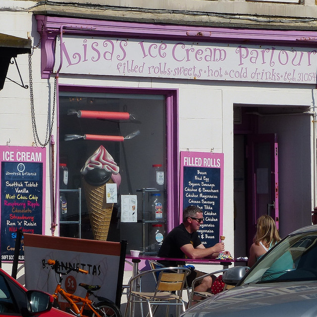 lisas ice cream parlour anstruther