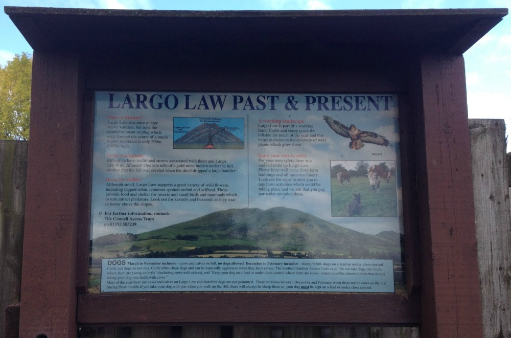 info board for largo law walk