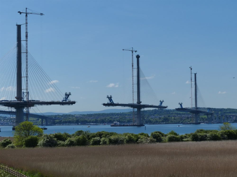 Queensferry Crossing under construction