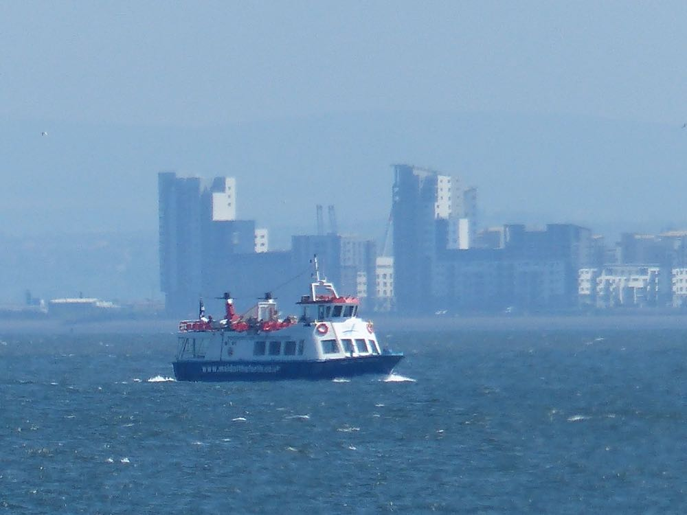 Maid of the Forth with Edinburgh in the distance