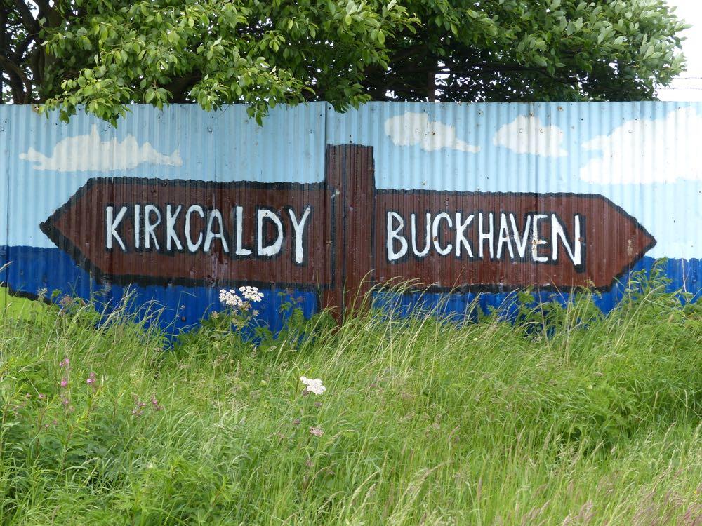 kirkcaldy buckhaven sign