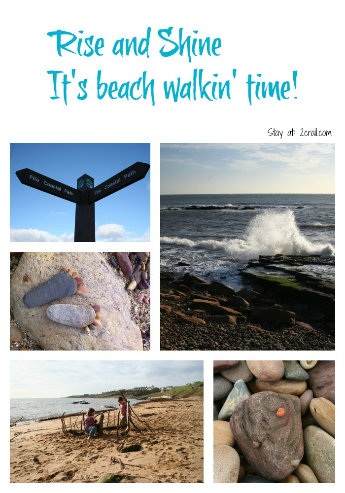 time to go for a walk on the beach?