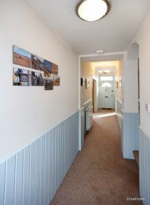 look along the hallway from the front door of Sandcastle Cottage