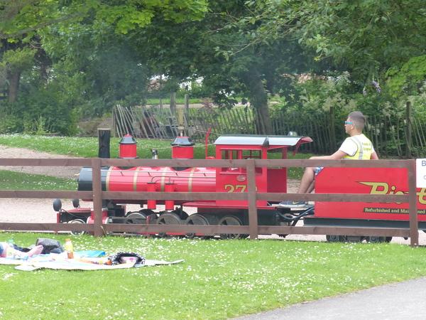 miniature train at Craigtoun Park