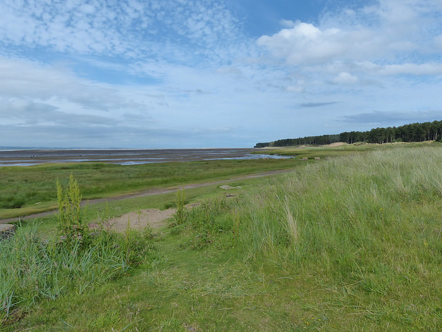 Looking towards Tentsmuir Point from the Fife Coastal Path at Tayport