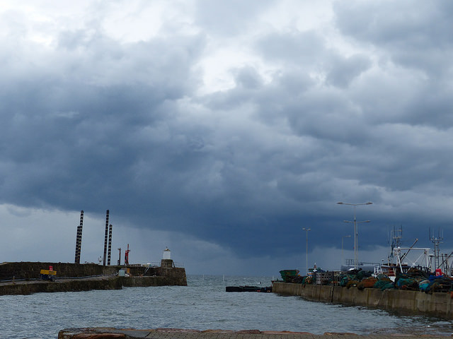 storm clouds arriving at Pittenweem