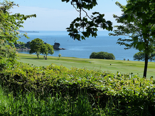 views over aberdour golf course
