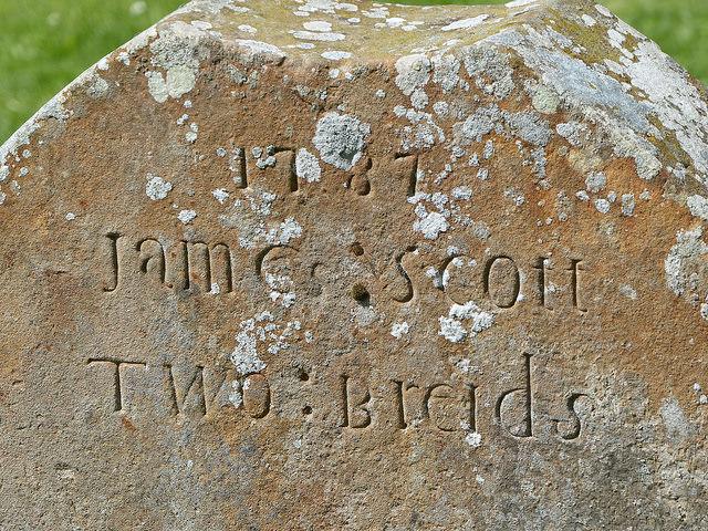 Gravestone at St Bridget's Kirk