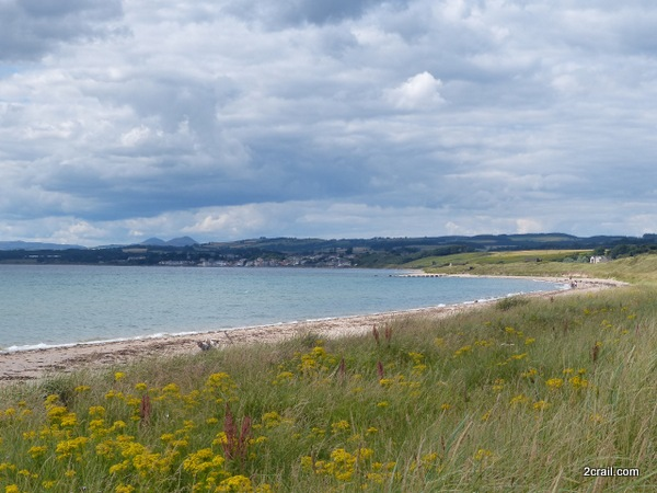 view of the lomond hills from fife coastal path