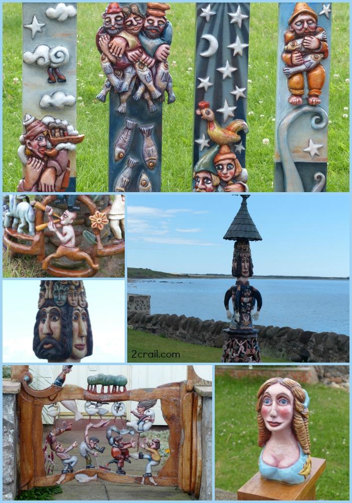 sculptures at lower largo