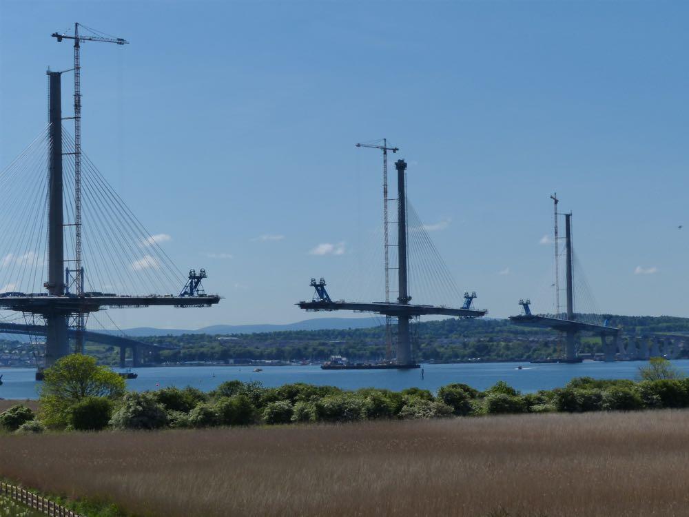 Queensferry Crossing under construction