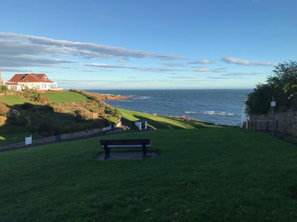 view over Roome Bay from Sandcastle Cottage