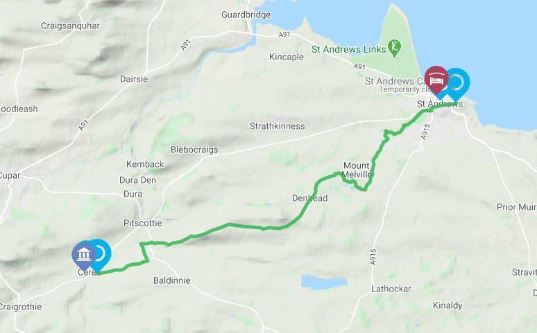 Fife Pilgrim Way Ceres to St Andrews