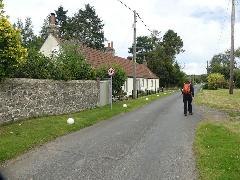 Walking through the small hamlet of Denhead