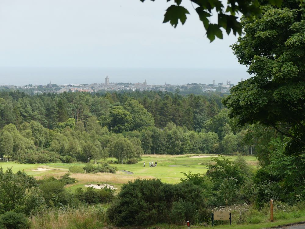 St Andrews from Craigtoun and the Dukes Golf Course