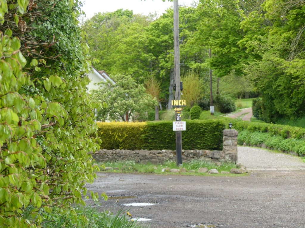 Pittenweem Balcaskie and St Monans road to Inch Farm