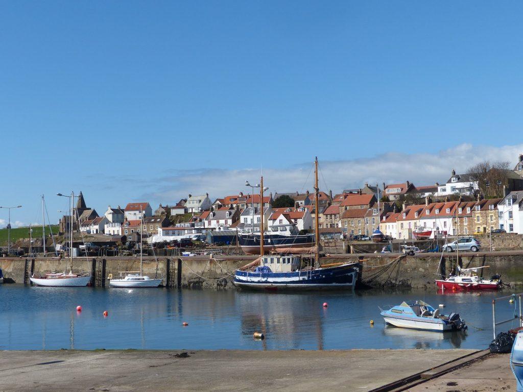 St Monans Harbour and Auld kirk
