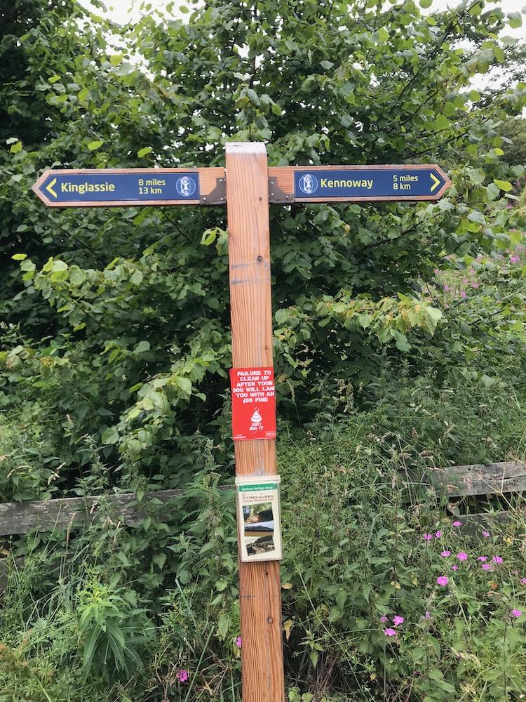 Markinch to kennoway distance marker